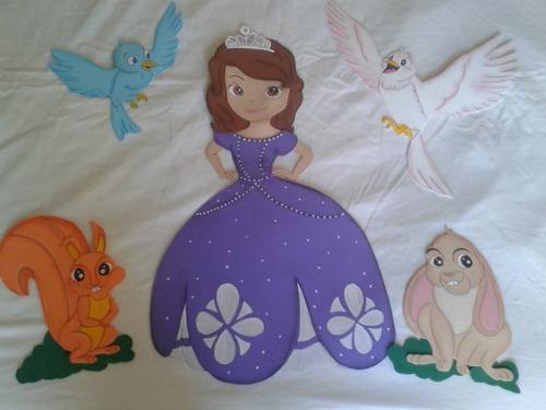 9b1c215412c decoracion de princesa sofia en goma eva para cumpleaños -   380 en
