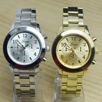 Reloj Geneva Metalico Unisex  Con Eslabones - Otec
