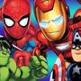 Kit Imprimible Escuadron De Super Heroes Diseñá Tarjetas