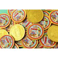 Monedas De Chocolate Personalizadas 3,7cmts De Diámetro