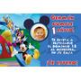 Invitaciones Fiestas Cumpleaños Mickey Tarjetas X 10 U