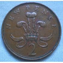 Inglaterra Gran Bretaña. 2 New Pence, Años 1971 Y 1980. C/u