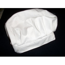 Gorro Blanco De Uniforme,ideal Panadero,cocinero,etc