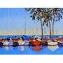 Lamina 45 X 30 - Puertito De Botes - Botes Marina Rio