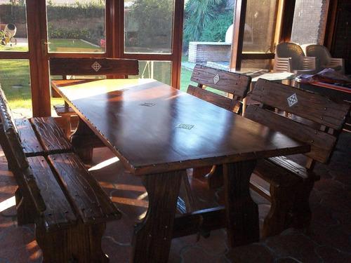 Mesa para comedor o barbacoa rustico 19900 sydfl - Muebles de comedor rusticos ...