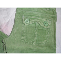 Pantalon De Pana Verde Zara