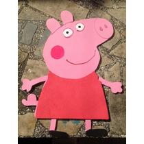 Peppa Pig En Goma Eva Cotillon Cumpleaños Decoracion