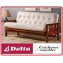 Futton .futon De Madera .sofa Cama .living .comedor .