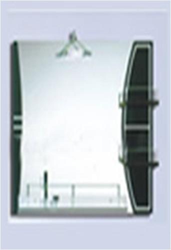 Espejo rectangular horizontal para ba o con repisas y for Espejo horizontal