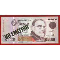 Fv * Billete - Uruguay 1989 * N$ 5.000 # 30 A Tinta Verde