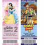 Tarjetas Ticket Invitaciones Cumpleaños Infantiles Foto X 10