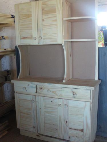 Alacena o aparador con esquinero de madera maciza 2310 for Alacena madera maciza