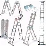 Escalera Andamio Multifuncion 16 Escalo Aluminio 4,75m Ingco