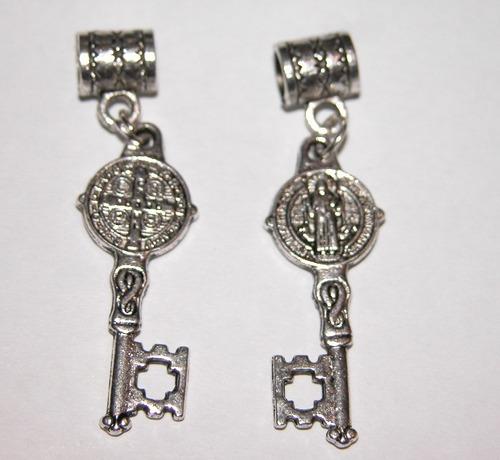 5a1610c7fb1 San Benito Medalla Con Llave Proteccion Apertura Plata Tibet