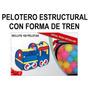Juego De Salón Pelotero Carpa Formato Tren Y 100 Pelotas