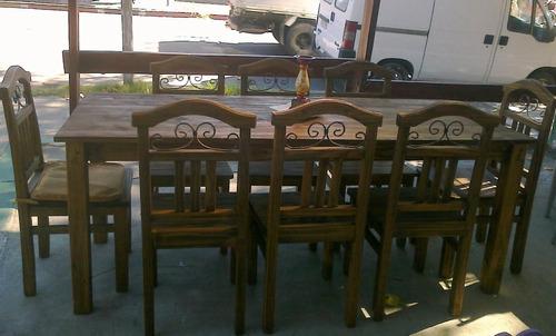 juego de comedor rustico con 8 sillas 11200 scdzd