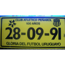 Matricula De Acrilico Peñarol Del Año 1991