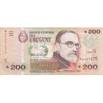 Reposición Uruguay 200 Pesos Rotondaro 41 D R No Común