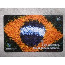 Tarjeta Telefónica Brasil Telecom 2002 Día Da Independencia
