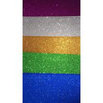 Goma Eva Con Brillantina (glitter) 60x40 Cm