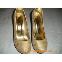 Zapatos Dama Taco Con Plataforma Beige Talle 37
