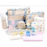 Bolso Maternal Bebe 5 Piezas Varios Colores / Mvd Shopping