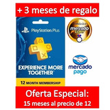 Tarjeta Playstation Plus 1 Año Psn Store Usa Oferta:15 Meses