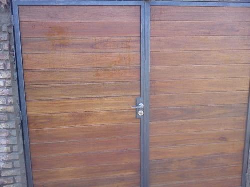 Port n de garage portones y cercas a uyu 3950 en - Garage de madera ...
