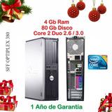 Computadora Dell Core 2 Duo + 4gb + 80 Gb Garantía