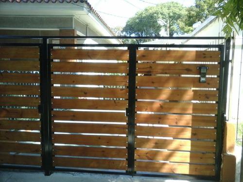 Portones de hierro y madera portones y cercas a uyu 1500 for Ver modelos de portones de hierro