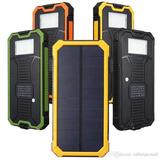Cargador Solar Powerbank 20.000 Mah Doble Puerto Y Linterna