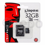 Memoria Microsd 32gb Clase 4 Kingston Celular Tablet Camara