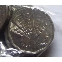 Oportunidad Bolsa Con 100 Monedas N$2 Año 1981 Espiga Leer