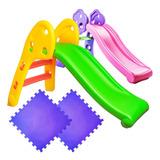 Tobogán Infantil Plástico Plegable Niño +2 Pisos Goma El Rey