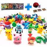 Pokemon Go Kit 24 Pokemones Al Azar+ Pokebola+ Set De Cartas