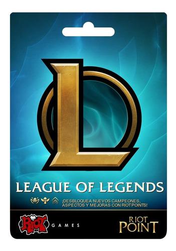 League Of Legends Riot Points Lol Rp 4280 Latino Sur Las