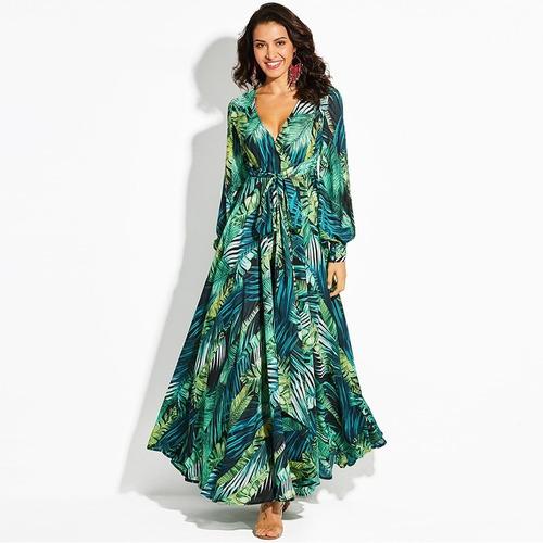 Vestidos largos floreados mercado libre