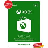 Xbox Live Tarjeta 25 Dolares Gift Card / Entrega Inmediata