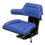 Asiento Azul Con Suspensión Para Tractor