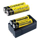 4pcs 18650 Batería 6000mah Baterías Recargables 3.7v Li-león