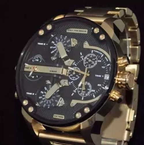69415ac9f65b Reloj Diesel Bañado En Oro Only The Brave Dz 7333 A517