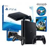 Consola Play Station 4 500gb Slim 2 Joystick + Juego Horizon