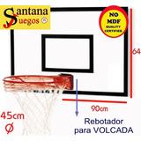 Tablero Basket Madera Aro Spalding Nba Rebotador Santana