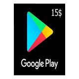 Tarjeta Digital Google Play 15 Usd (cuentas Eeuu)-mercado Uy