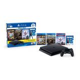 Playstation 4 1tb Slim Mega Pack 6 +2 Controles