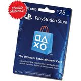 Tarjeta Playstation Network 25 Dólares Psn / Código Original