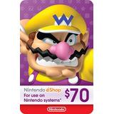 Nintendo Eshop 70 Dolares Switch Wii U 3ds Código Original