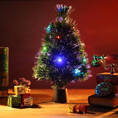 dbd94b9c817 Árbol De Navidad 30cm Con Luz Fibra Optica Armour.uy
