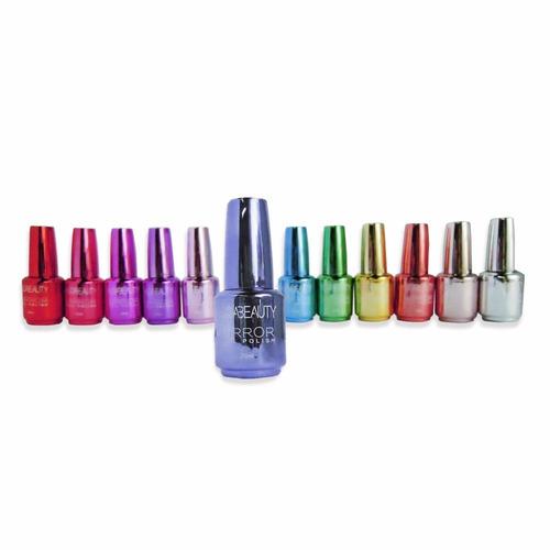 Esmalte De Uñas Efecto Espejo 12 Colores 20ml Manicura