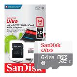 Memoria Micro Sd Sandisk Clase 10 64gb Ultra Rapida Microsdx